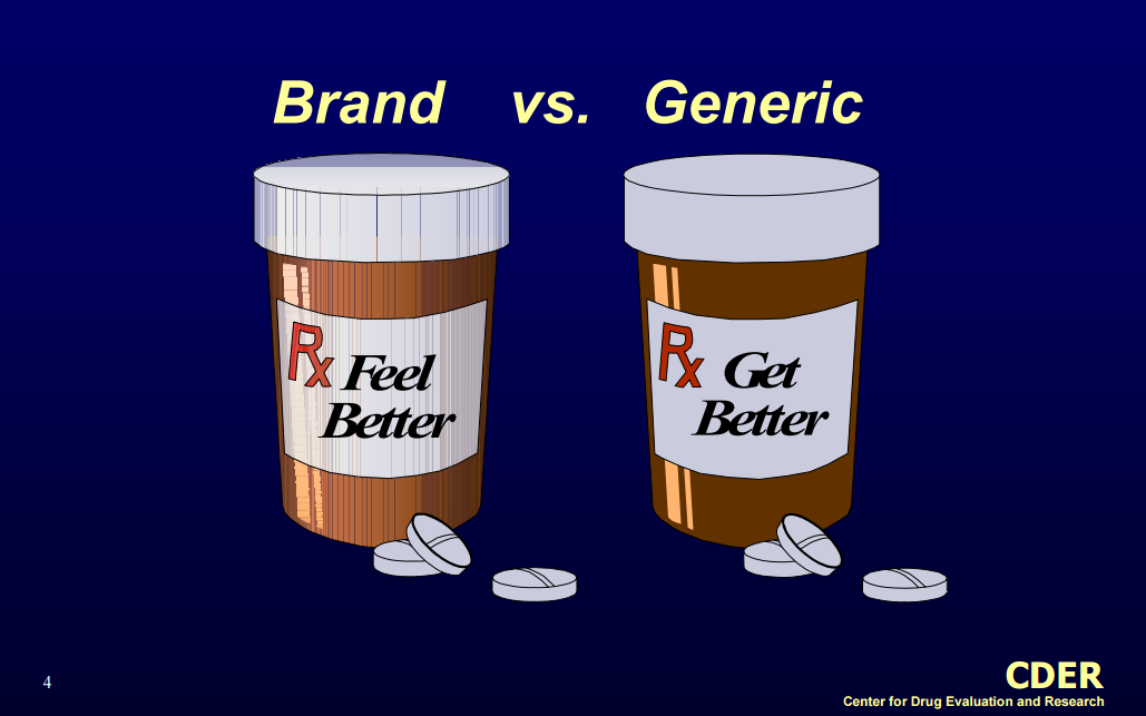 comparison of generic and branded drugs As generic drugs contain exactly the same active ingredient, they are certified to be perfect substitutes to the originator branded drugs  a comparison of generic and originator brand drug .