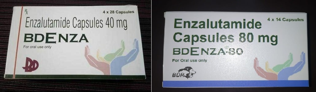 Bdenza 40 and 80 mg Enzalutamide