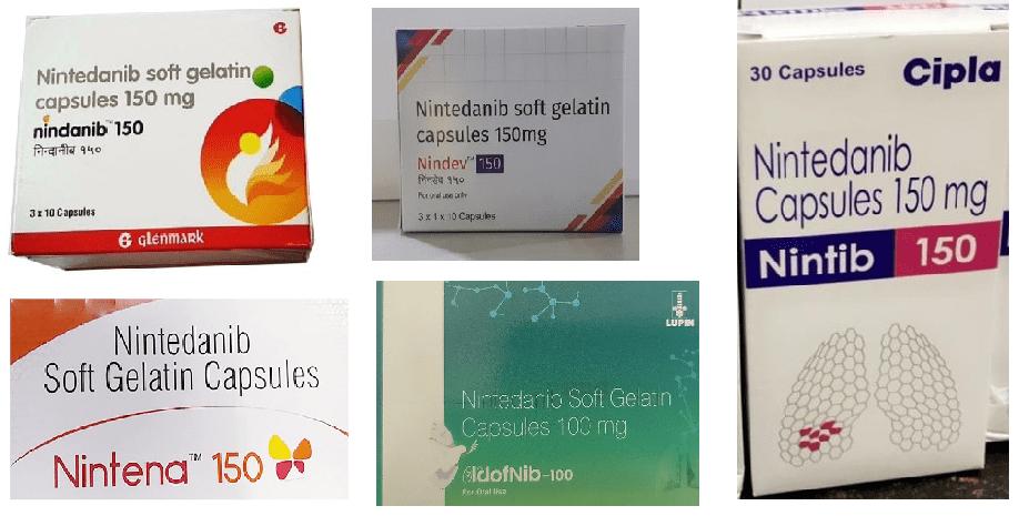 Nintedanib 150 mg tablet in India